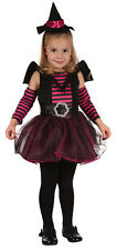 Girls Witch Cute Toddler Costume for Halloween Fancy Dress Outfit Child