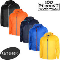 Uneek Active Lightweight Waterproof Breathable Windproof Mens Jacket with Hood