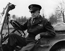 "General of the Army, Dwight D. Eisenhower in a Jeep 8""x 10"" WWII WW2 Photo 399"
