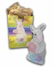 Cracker Barrel Easter Bunny Light Lamp Vintage Rabbit Decor Clear Colored Eggs