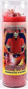CANDLE COCKTAIL AROMATIC VELA HOLY DEATH COME TO ME- SANTA MUERTE VEN A MI