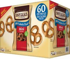Snyder's Of Hanover 100 Calorie Mini Pretzels 60ct