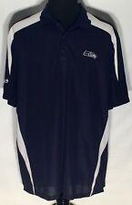 Seattle Seahawks NFL Football Team Logo Reebok 2XL Blue Embroidered Polo Shirt