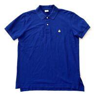 Brooks Brothers Blue Slim Fit Performance Golf Polo Shirt Mens Size Medium M