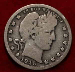 1915-S San Francisco Mint Silver Barber Quarter