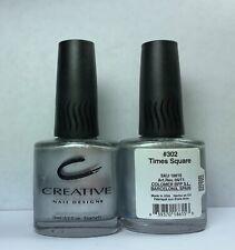 ORIGINAL Nail Polish Creative Nail Design TIMES SQUARE 302 Silver Chrome Lacquer