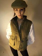 Zip Hip Length Wool Blend Waistcoats for Women