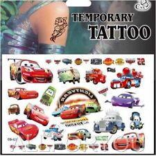 Pixar Cars Mcqueen Cartoon Kids Boys Girls Temporary Tattoos Stickers Body Art