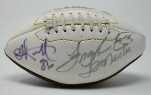 Fred Barnett & Frank LeMaster Hand Signed Autographed Mini Eagles Football