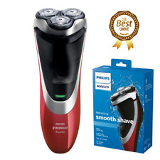 Philips Norelco Rechargeable Wet/Dry Cordless Electric Shaver Floating Heads-Red