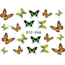 NAIL Art Adesivi Acqua Decalcomania Per Unghie Trasferimento Wraps Butterly ADESIVI Cool stz046