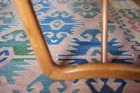 Vintage Hand Woven Anatolian Kilim Rug Turkish c1930 Persian Mid Century Antique