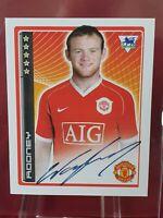 Wayne Rooney Manchester United Premier League 2007 07 Merlin Sticker