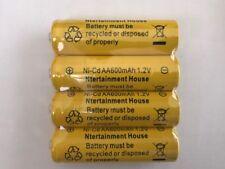 4-pcs1.2v AA (600mAh) Ni-Cd Rechargeable Battery For Solar Light