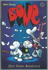 **BONE: OUT FROM BONEVILLE HARDCOVER**(1996, CARTOON BOOKS)**RARE 1ST PRINT!**NM