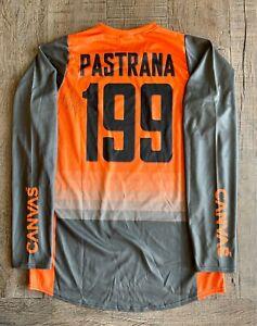 Travis Pastrana Autographed Canvas Orange & Black Nitro Circus Jersey