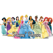 Disney Princess Personalised Bedroom Door Sign - Any Text/Name (1)