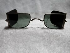 """VERY RARE MODIFIED  """"DOUBLE D""""  RAILROAD PROTECTIVE EXTENDED SIDE SPECTACLES!"""