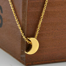 Women Fashion Jewelry Elegant Star Crescent Moon Pendant Simple Chain Necklace