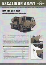 EXCALIBUR ARMY TATRA T-815 BM-21 2017 4x4 MILITARY BROCHURE PROSPEKT FOLDER