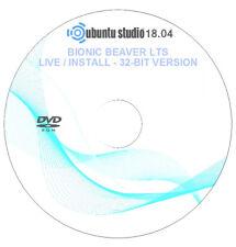 Ubuntu Studio 18.04 - LTS - 32-bit - Live / Install Disc Operating System DVD