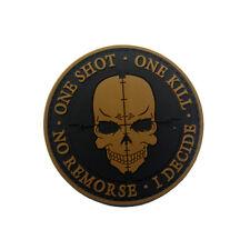 SNIPER Punisher ONE SHOT ONE KILL Death Skull DEVGRU SWAT Army Morale PVC Patch
