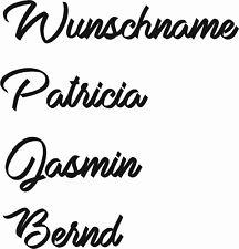 Schrift 11  Ihr Wunschname Wandtattoo Aufkleber Namen Auto 10 cm