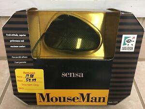 Vintage Logitech MouseMan Legendary Sensa 3-Button Serial-Port Ball Mouse - New!
