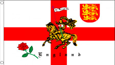 England English St George Cross Rose Lion And Charger Flags Bunting Handwavers