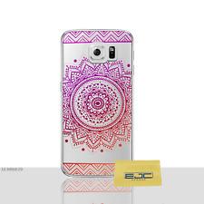 Mandala Case/Housse Samsung Galaxy S6 Protecteur d'écran, Gel/solaire VIOLET-Orange