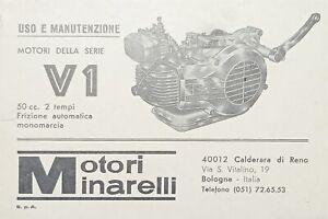 Libretto Uso e Manutenzione - Motori Minarelli della serie V1 - 50 cc. 2 Tempi