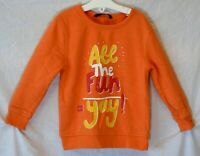 Boys George Orange All the Fun Yay Novelty Funny Sweater Jumper Age 2-3 Years