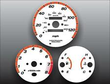 1996-2001 Honda CR-V Manual Dash Instrument Cluster White Face Gauges