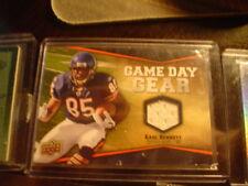 EARL BENNETT BEARS JERSEY 2009 UPPER DECK GAMEDAY GEAR FOOTBALL CARD #NFL-EA
