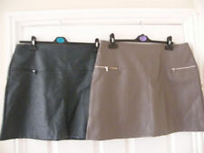 Faux Leather Plus Size Short/Mini Skirts for Women