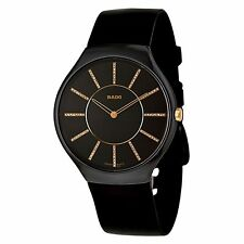 Rado R27741709 Men's True Ceramic Black Quartz Watch