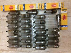 Lot 29 tubes ED500 triode, RTC, Philips, Mazda Belvu, Inter, Dario Miniwatt