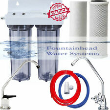 2 Stage Under Sink Drinking Water Clear Filtration System. Choice of Faucets.