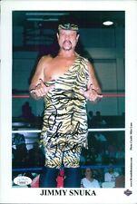 "Jimmy ""Superfly"" Snuka WWF WWE Signed 7.5x11 Promo Photo JSA Authenticated"