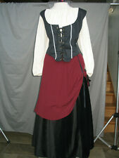 Renaissance Dress Medieval Costume Maid Wench Villager Gypsy Tavern Girl Pirate