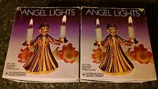 International Silver Co Angel Lights Candle Holder 24 kt electro plated in box