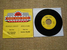 '7' Golden Oldies Revival Choice Do it anyway you & Bob & Earl Harlem Shuffle