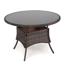 rattan round garden patio tables for sale ebay rh ebay co uk