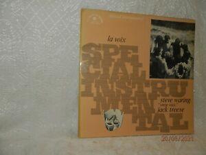 STEVE WARING JACK TREESE onze voix LP LE CHANT DU MONDE LDX 74559 France 1974