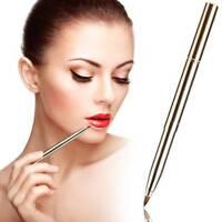 Fashion Portable Lip Brush Double-headed Retractable Lipstick Brush Makeup^