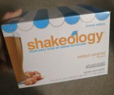 Salted Caramel Vegan Shakeology Limited Edition 14 packet Unopened box 04/21 exp