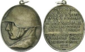 Soldatenspende 1918 Schweiz Silbermedaille Für unsere Soldaten Anhänger 48895