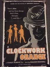 Clockwork Orange MALCOLM MCDOWELL Signed Movie Poster 27x40