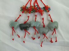 Lot of 5 Chinese Zodiac Butterfly Knot Jade Cell Phone Charm Strap Red BOAR