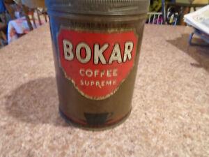 Antique or Vintage Tin: Bokar Coffee Supreme 1 Lb. Can